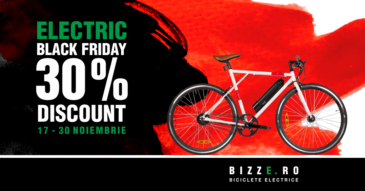 Electric Black Friday: Cumpără-ți bicicleta electrică la super preț!